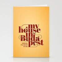 budapest Stationery Cards featuring Budapest by Lowso