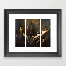 Modern Triptych: Digital Theodore meets the Spectre Framed Art Print