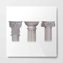 Triple Threat Metal Print