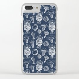 Cactus Flowers White Clear iPhone Case