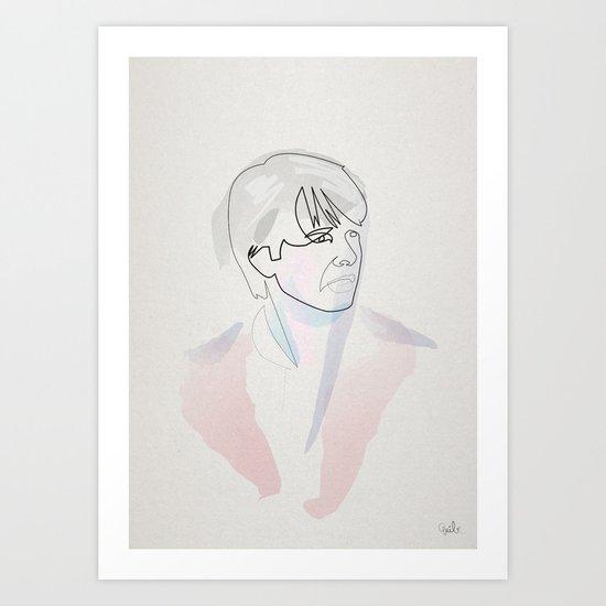 One line Marty mc Fly Art Print