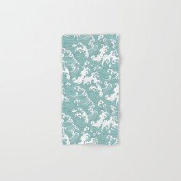 Traditional Hand Drawn Japanese Wave Ink Hand & Bath Towel