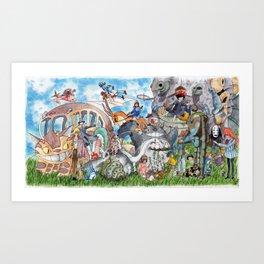 Studio Ghibli Art Print