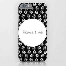 Pawsitive Paws - dog lover animals pattern iPhone Case