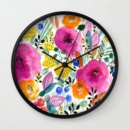 Delightful garden Wall Clock