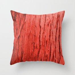 Red Bark Throw Pillow