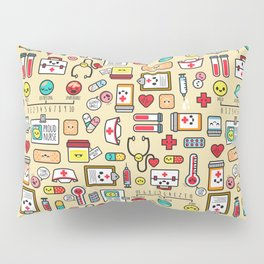"""Proud To Be A Nurse"" Pattern Pillow Sham"