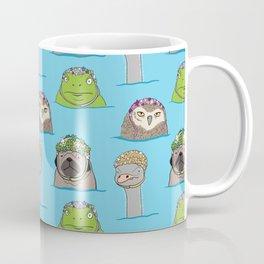 Grumpy animals in vintage swim caps Coffee Mug