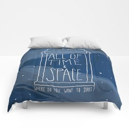 All Of Time And Space Comforters