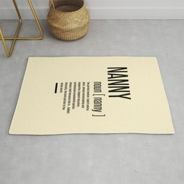 Nanny Definition Grandma Mothers Day Gifts Women  Rug