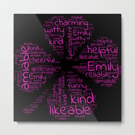 Emily name gift with lucky charm cloverleaf Metal Print