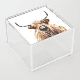 Highland Cow Portrait Acrylic Box