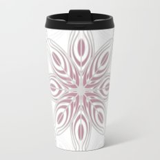 Feathers, Geometric Pattern in Mauve and Grey Travel Mug