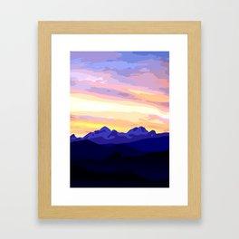 Triglav (2864m) Sunset Framed Art Print