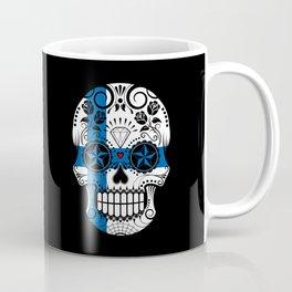 Sugar Skull with Roses and Flag of Finland Coffee Mug