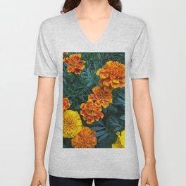 Marigolds Unisex V-Neck