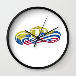 Colombian Sombrero Vueltiao in Colombian Flag Colors Wall Clock