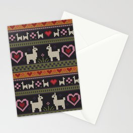 Llama Love Knit Stationery Cards