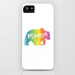MAMA BEAR RAINBOW iPhone Case