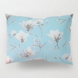 Floral Wallpaper Blue Pillow Sham