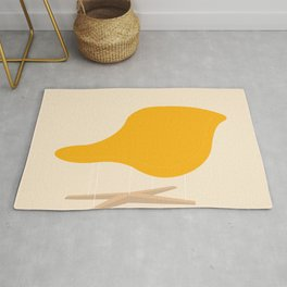 Yellow La Chaise Chair by Charles & Ray Eames Rug