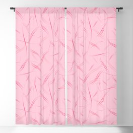 Crimson purple smooth curved lines on a pink strawberry background for girlish joys. Blackout Curtain