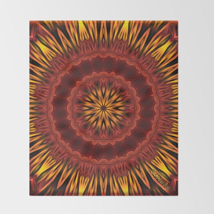 Mandala of Surya the Sun God  Throw Blanket