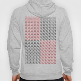 Imperfect Hearts Checkerboard Pattern- Red/Black/WHITE Hoody