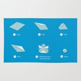 Step-by-step Origami Rug