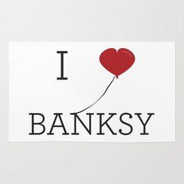 I heart Banksy Rug