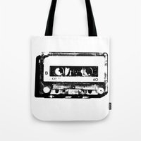 cassette Tote Bags featuring cassette by Gabriel