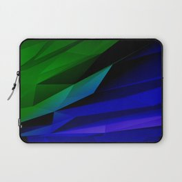 Geo Green and Blue Laptop Sleeve