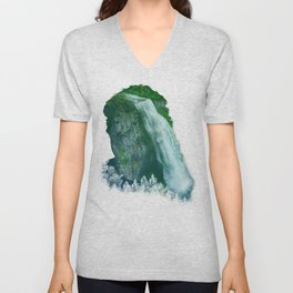 LOOK AT THE WATERFALL Unisex V-Neck