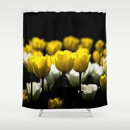 Tulips Yellow And White Shower Curtain