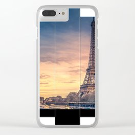 Eiffel geometric Clear iPhone Case