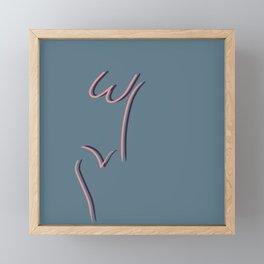 W & V Woman (Farmhouse Blue & Rose) Framed Mini Art Print