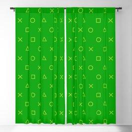 Green Gamer Pattern Blackout Curtain