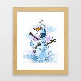 The lovable Olaf Framed Art Print