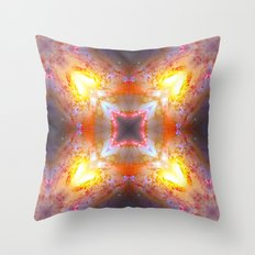 Yellow Swirling Galaxy Throw Pillow