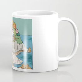 Cinque Terre Italy Colourful Houses by Day Coffee Mug