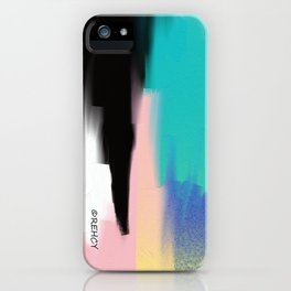 Turquoise Light and Yellow iPhone Case