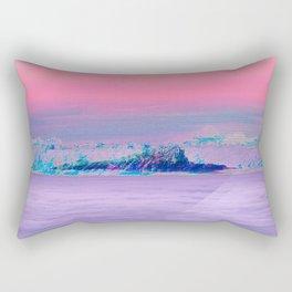 Vaporwave Summit Rectangular Pillow