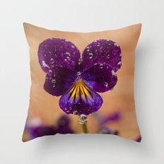 Flower after the Rain Throw Pillow