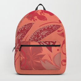 Samoa Watermelon Polynesian Floral Backpack