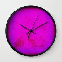 rothko Wall Clocks featuring Rothko Inspired Visceral by Corbin Henry