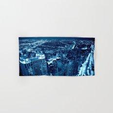 Chicago Nights Blue Hand & Bath Towel