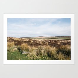 Footpath on Curbar Edge. Derbyshire, UK. Art Print