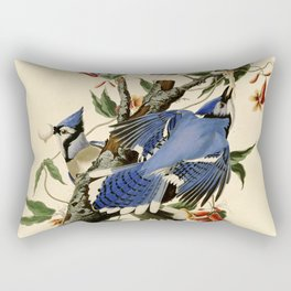 Blue Jay (Cyanocitta cristata) Rectangular Pillow