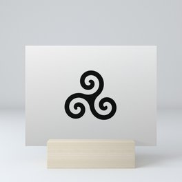 grey triskele Mini Art Print