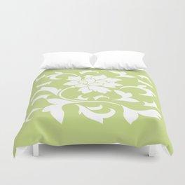 Oriental Flower - Daiquiri Green Duvet Cover